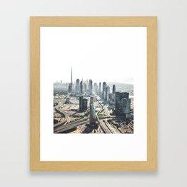 burj khalifa in Dubai Framed Art Print
