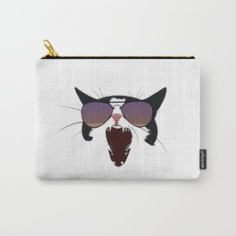 Cat Wearing Aviators Purple Gradient Carry-All Pouch