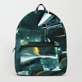 Pleated Metal Construction Backpack