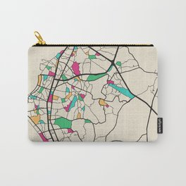 Colorful City Maps: Pattaya, Thailand Carry-All Pouch