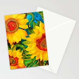 Golden Sunflowers Stationery Cards
