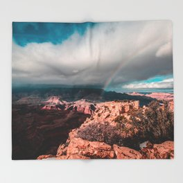 Rainbow over the Canyon Throw Blanket
