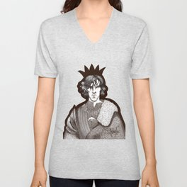 The Hollow Crown - Shakespeare's Richard III (brown) Unisex V-Neck