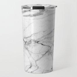 White Marble Stone Travel Mug