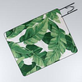 Tropical banana leaves IV Picnic Blanket
