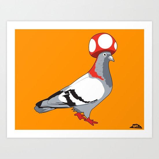 Pigeon Toad. Art Print