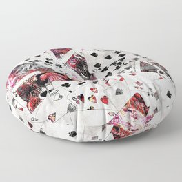 Abstract  Playing Cards Digital art Floor Pillow