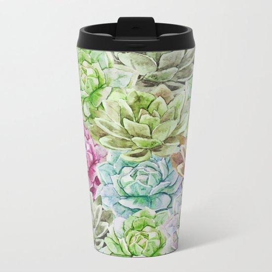 Cactus Pattern 17 Metal Travel Mug