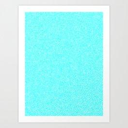 Melange - White and Aqua Cyan Art Print