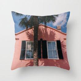 Charleston Pink IV Throw Pillow