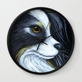 LOVELY PAPILLON DOG PROFILE 1 Wall Clock
