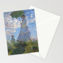 1875-Claude Monet-Woman with a Parasol - Madame Monet and Her Son-81 x 100 Stationery Cards