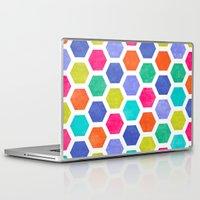 hexagon Laptop & iPad Skins featuring Hexagon 2 by Jacqueline Maldonado