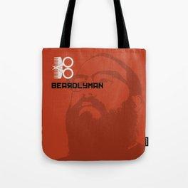Beardlyman Face on Orange Tote Bag