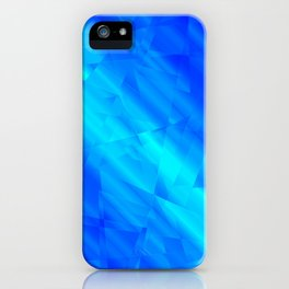 Glowing metallic blue fragments of yellow crystals on irregularly shaped triangles. iPhone Case
