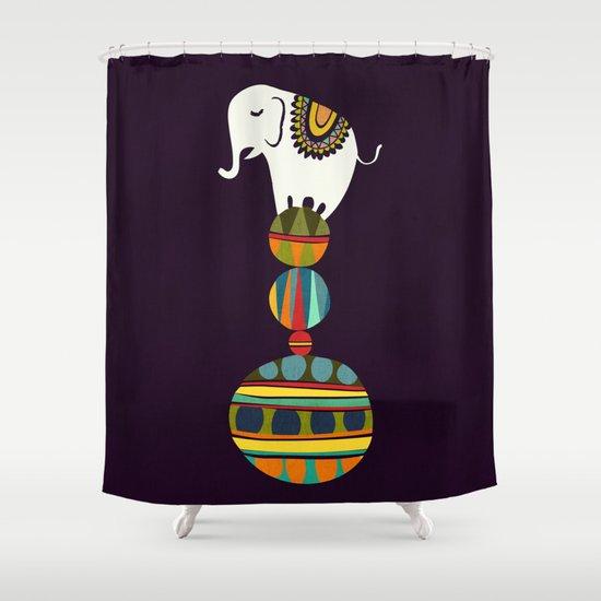 Elephant Circus Shower Curtain