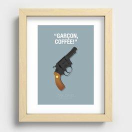 Garçon, Coffee! - Pulp Fiction Fanart Poster Recessed Framed Print
