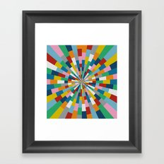 Tick Tock Brick Framed Art Print