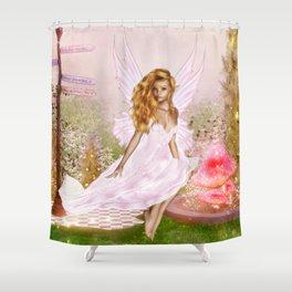 Pink Opal Shower Curtain