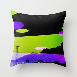 An Altered View of NYC Throw Pillow