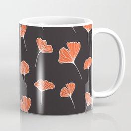 Ginkgo Biloba Leaves Pattern Dark #society6 #decor #buyart Coffee Mug