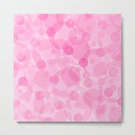 Pink Bubbles 1 Metal Print