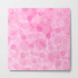Pink Bubbles 1 Metal Print