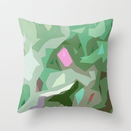 Abstract Camouflage Throw Pillow