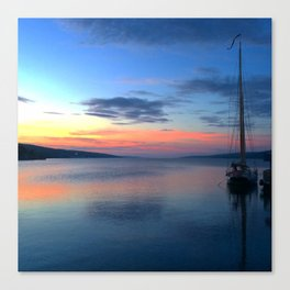 Seneca Sunset Schooner Canvas Print
