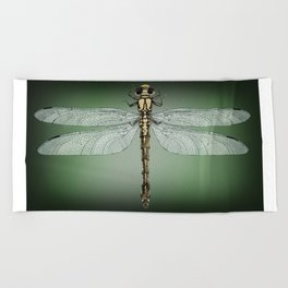 Dragonfly Gratitude Beach Towel