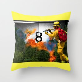 Mishap in the canister Throw Pillow