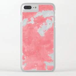 pink marble pattern Clear iPhone Case