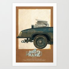Mad Max's Black on Black Interceptor from The Road Warrior, 1 of 3 Art Print