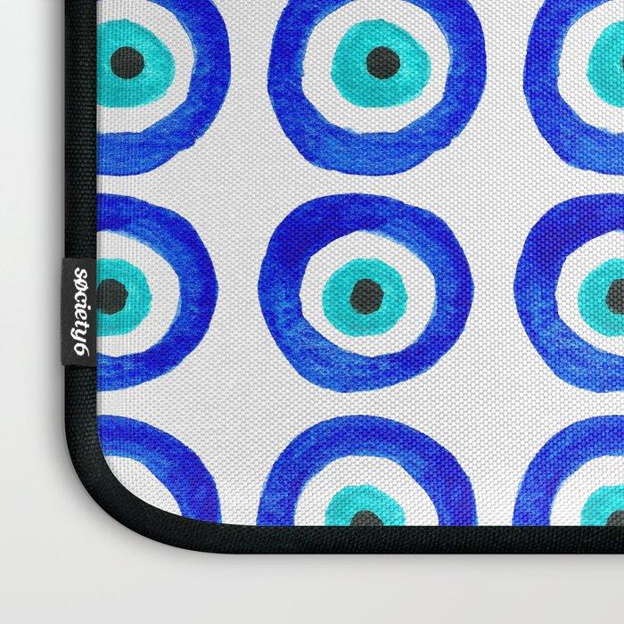 Evil Eye Amulet Talisman - on white Laptop Sleeve