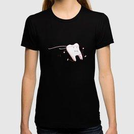 Floss - running tooth - red T-shirt