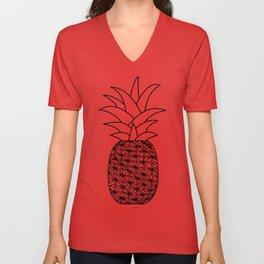 Ananas black Unisex V-Neck