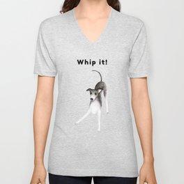Whip it! (Light Blue) Unisex V-Neck