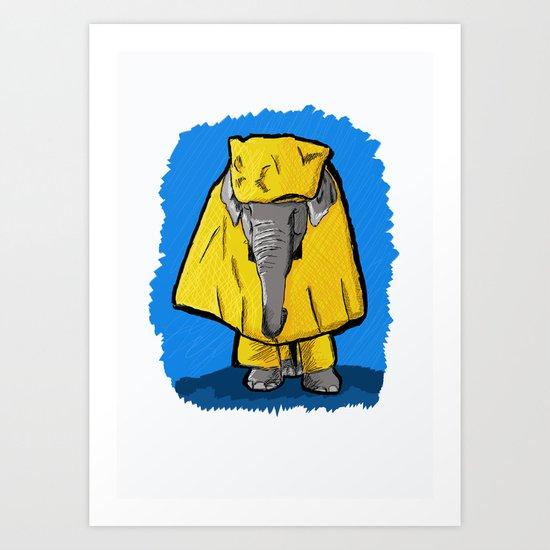 Waterproof elephant Art Print