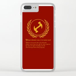 Stonecutters Clear iPhone Case