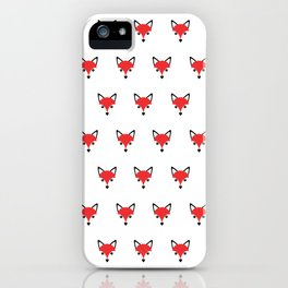 Funky Cute Fox Head Pattern iPhone Case