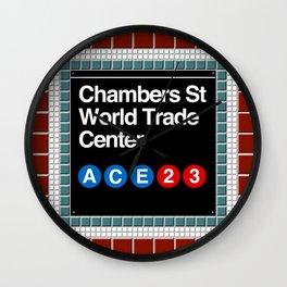 subway world trade center sign Wall Clock