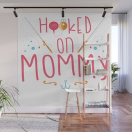 Funny Fishing Angling Fisher Mom Mother Kids Gift Wall Mural