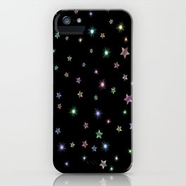 Colored Sparkling Stars iPhone Case