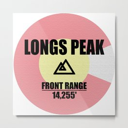Longs Peak Metal Print