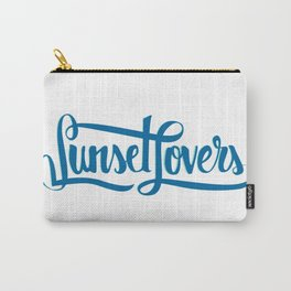 Sunset Lovers Calligraphy Carry-All Pouch