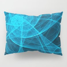 Tulles Star Computer Art in Blue Pillow Sham