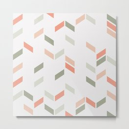 Geometric Confetti (Rose Garden) Metal Print
