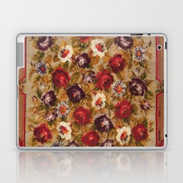 Antique Russian Bessarabian Floral Rug Print Laptop & iPad Skin