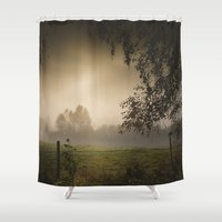 heroes Shower Curtains featuring Even heroes cry sometimes by HappyMelvin