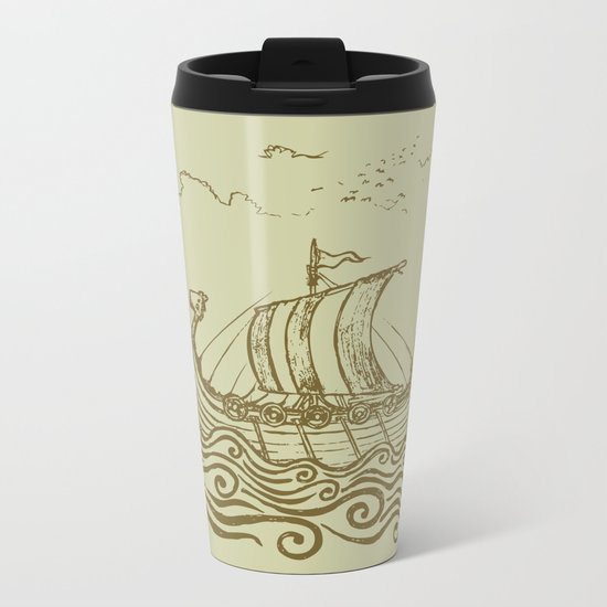 Viking ship Metal Travel Mug